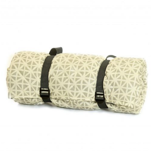 Waterproof Triangle Design Quilted Picnic Rug, Tweedmill interiors at Source for the Goose, Devon