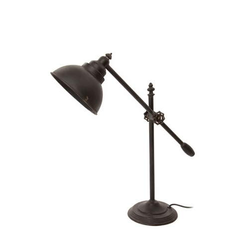 Industrial look metal counterbalance lamp, rustic interiors at Source for the Goose, South Molton, Devon