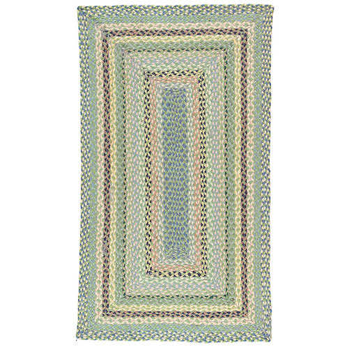 Organic Jute Braided Rug in Mint, The Braided Rug Company interiors at Source for the Goose, Devon