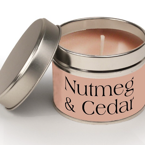 Nutmeg & Cedar Pintail Candle, British made homewares at Source for the Goose, Devon