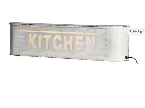 Plug in Kitchen Light Box, parchment colour metal outer, to buy at Source for the Goose, Devon