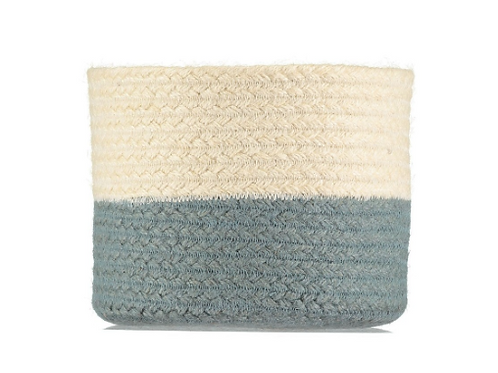 Two Tone Thistle Organic Jute Basket, interiors at Source for the Goose