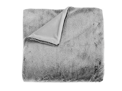 Tip Dyed Faux Fur Throw in Charcoal, by Waltons of Yorkshire