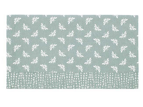 Moss Green Table Runner with Bee Design, interiors at Source for the Goose, Devon