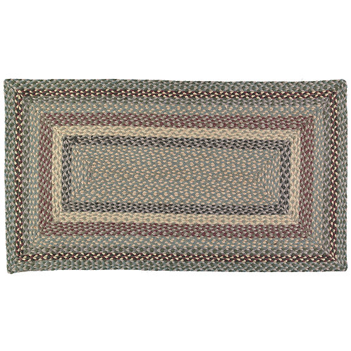 Tundra colour way Braided Rug at Source for the Goose