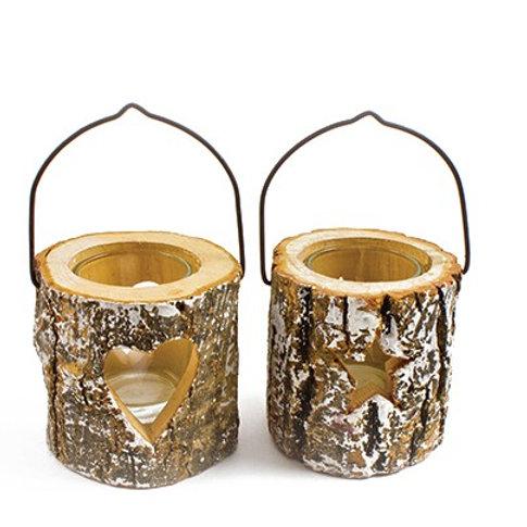 Birch Bark Tealight Holders
