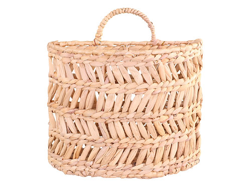 Small Wall Hanging Basket, wicker style water hyacinth, homewares at Source for the Goose