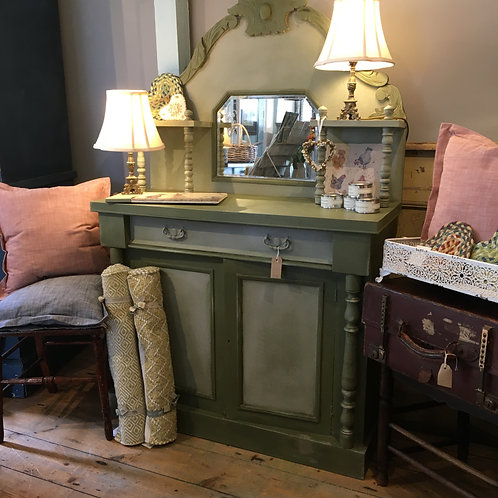Grey/Green painted chiffonier, part of a range of secondhand furniture at Source for the Goose