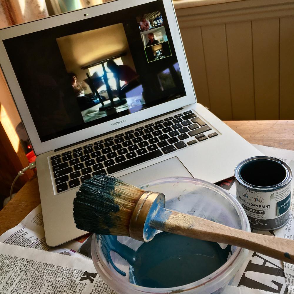 Chalk Paint workshop online via Zoom using Annie Sloan Project Pot