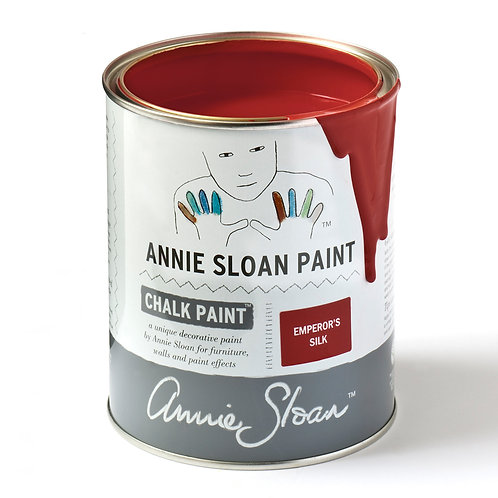Bright red chalk paint, Emperor's Silk at Source for the Goose