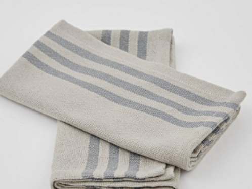 Weaver Green Maxime Linen and Blue Napkins in a shabby chic french style at Source for the Goose