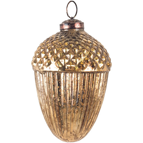 Large Gold Acorn Bauble from Grand Illusions at Source for the Goose, Devon