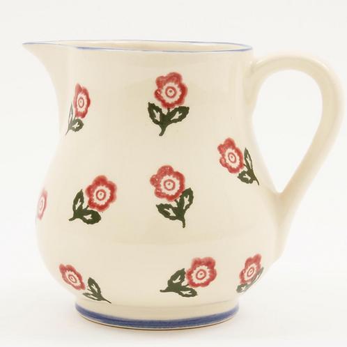 Brixton Pottery Scattered Rose Jug, traditional sponge ware design, homewares at Source for the Goose, Devon