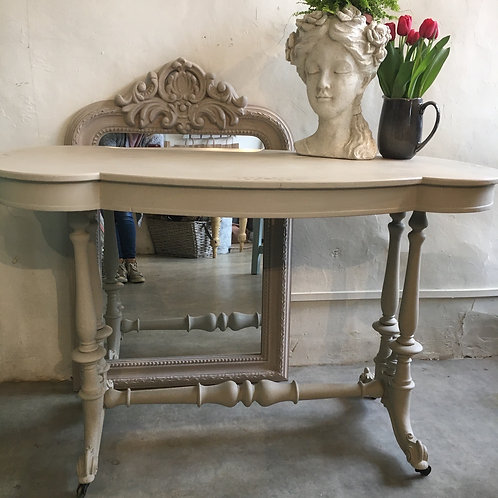 Painted Victorian Hall Table in Annie Sloan Country Grey, painted second hand furniture at Source for the Goose for the Goose