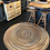 Braided Rug in colour way Sahara, round design, available to buy in Devon