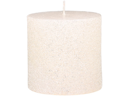 Porcelain colour candle with lightly shimmering glitter finish at Source for the Goose