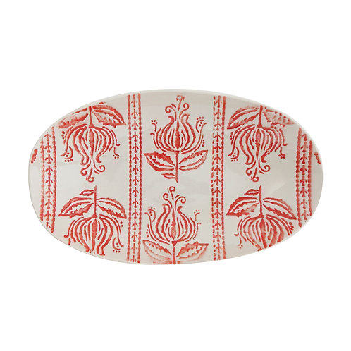 Rustic Red and White Stoneware Plate, homewares from Bloomingville at Source for the Goose, South Molton