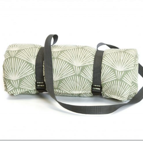 Waterproof Palm Leaf Design Quilted Picnic Rug, Tweedmill homewares at Source for the Goose. Devon
