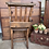 Vintage Wooden Chapel Chair with Prayer Book Slot at Source for the Goose, Devon