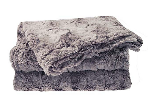 Soft Faux Fur Throw in Mink, winter interiors at Source for the Goose, Devon