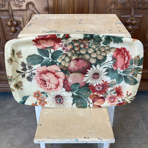 Vintage Retro Floral Serving Tray by Keswick