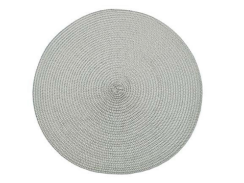 Dove Grey Circular Placemat with ribbed design, Waltons of Yorkshire homewares at Source for the Goose, Devon