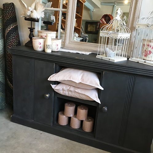 Sideboard painted in Annie Sloan Graphite at Source for the Goose