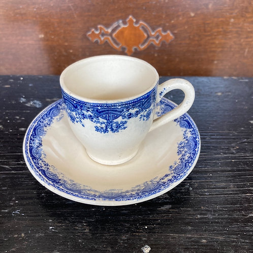 Vintage Boch La Louviere Coffee Cup and Saucer, vintage interiors at Source for the Goose, Devon