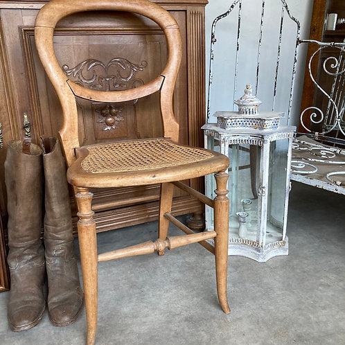 Cane seated Bergere Chair with Balloon Back