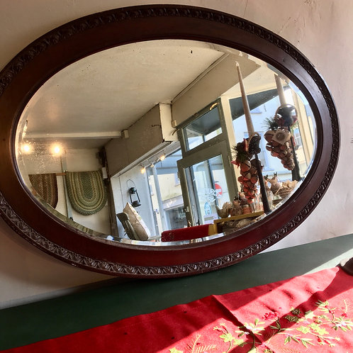 Large Oval Edwardian Mirror, secondhand vintage interiors at Source for the Goose, Devon