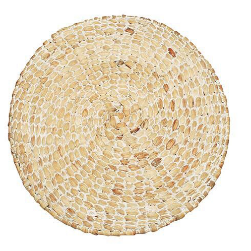 Circular White Hyacinth Tablemat, to buy from interiors at Source for the Goose