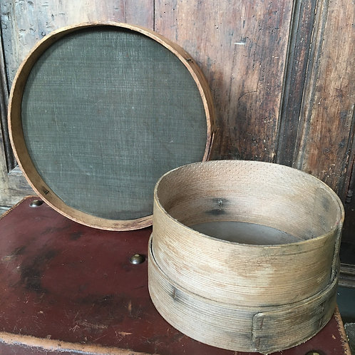 Small Vintage Baker's Sieve, vintage interiors at Source for the Goose, Devon
