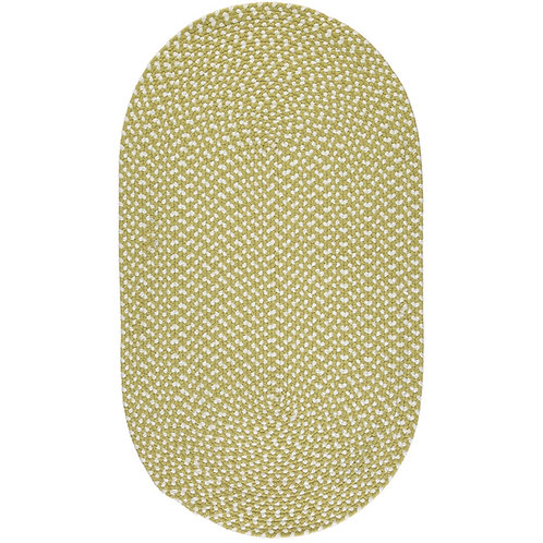 Apple green eco braided rug, made from recycled plastic at Source for the Goose