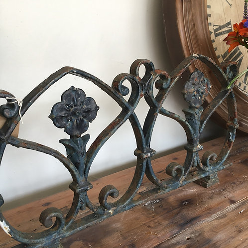 Vintage wrought iron section of decorative fencing, rustic interiors at Source for the Goose
