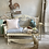 French Style Metal Bench with Seat Cushions, interiors at Source for the Goose