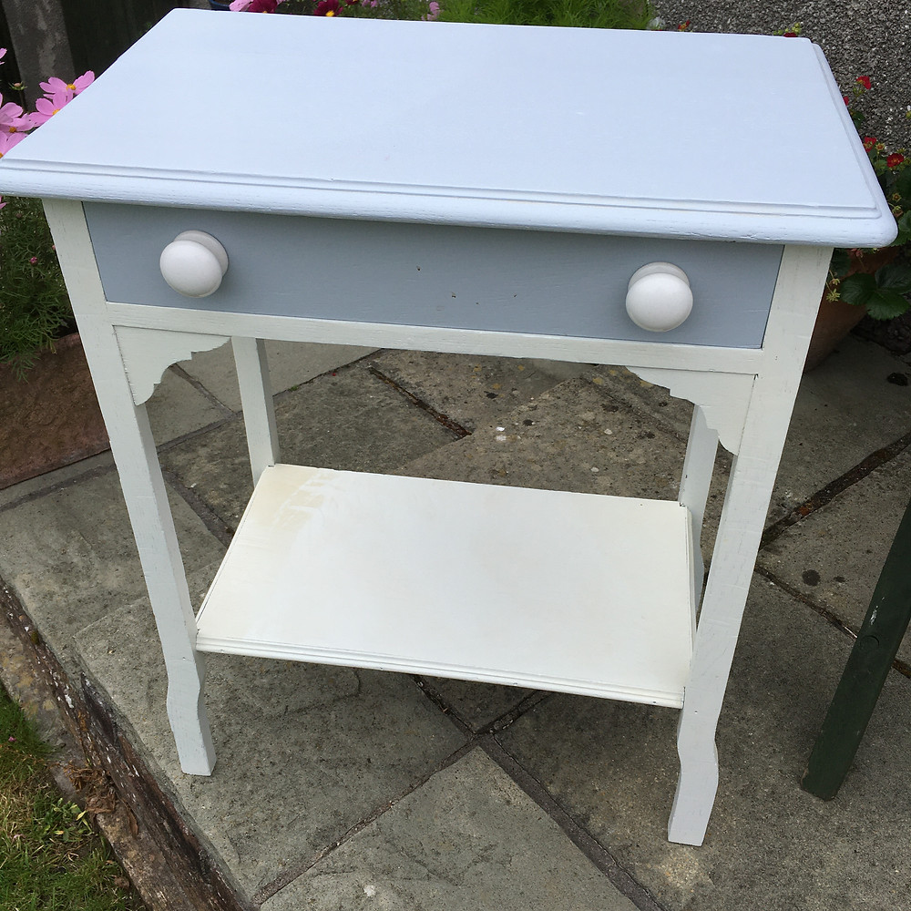 A dainty little washstand waiting to have an updated Annie Sloan Chalk Paint finish