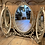 French Style Trifold Dressing Table Mirror, vintage interiors at Source for the Goose, Devon