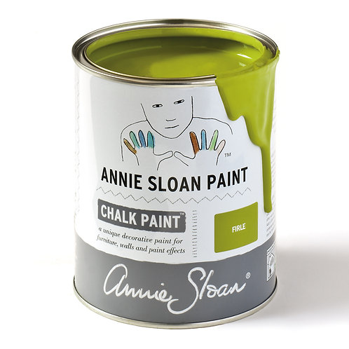 Annie Sloan Firle Chalk Paint, a bright zingy green colour, available at Source for the Goose