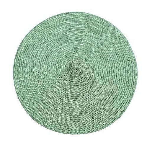 Sage Green Circular Placemat, interiors at Source for the Goose