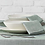Set of four moss green cotton chambray napkins, homewares at Source for the Goose