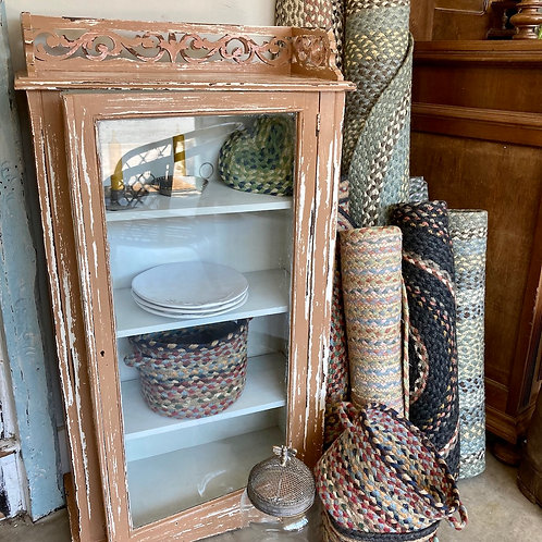 Chippy Painted Glazed Cupboard, vintage interiors at Source for the Goose, Devon