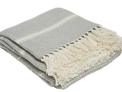 Weaver Green recycled plastic bottles blanket in Dove Grey at Source for the Goose