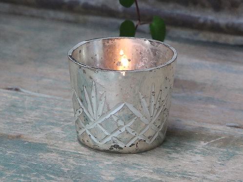 Delicate Silver Mercury Style Tealight Holder, interiors by Chic Antique at Source for the Goose, Devon
