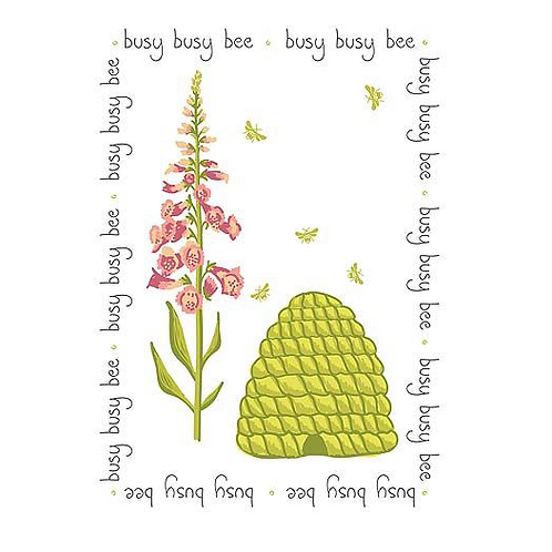 Busy Bee Cotton Tea Towel, Waltons of Yorkshire homewares at Source for the Goose, Devon