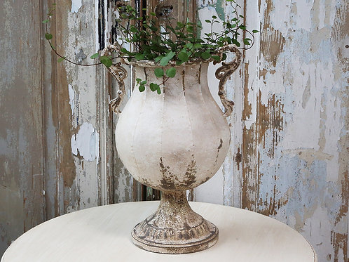 French style distressed urn at Source for the Goose