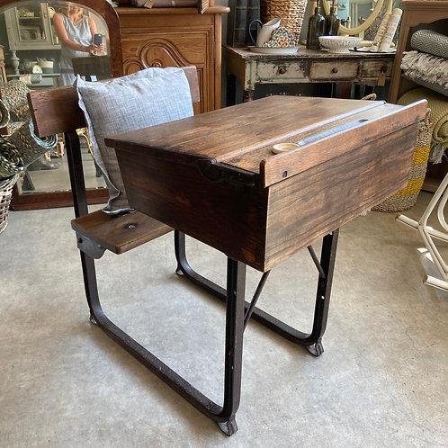 Vintage School Desk with Seat
