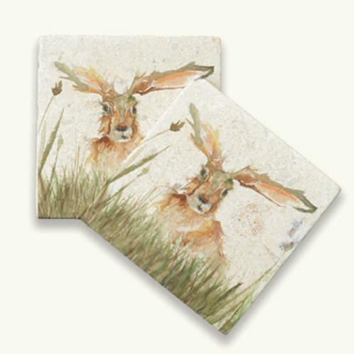Kate of Kensington Family A Hare marble coasters, country style homewares at Source for the Goose