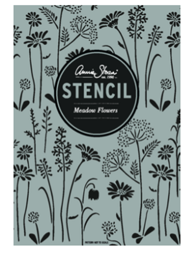 Meadow Flowers stencil by Annie Sloan Chalk Paint at Source for the Goose