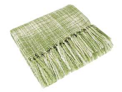 Soft Avocado Green Tasseled Throw to buy at Source for the Goose