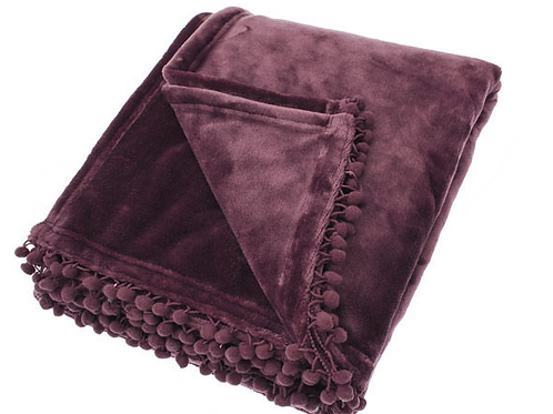 Mulberry Cashmere Touch Throw at Source for the Goose Devon